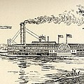 A Mississippi Steamer Off St Louis From American Notes By Charles Dickens  by EH Fitchew