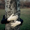A Model Hugging A Tree by Frances Mclaughlin-Gill