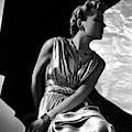 A Model Wearing A Piguet Dress by Horst P. Horst