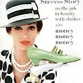 A Model With A Margaret Jerrold Kidskin Shoe by William Helburn