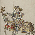 A Mounted Knight With Lance by British Library