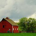 A Neat Red Barn Near Sheridan Wyoming by Jeff Swan