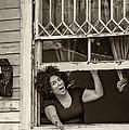 A New Orleans Greeting Sepia by Steve Harrington
