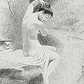 A Nymph by Charles Prosper Sainton