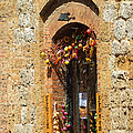 A Painting A Tuscan Shop Doorway by Mike Nellums