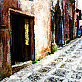 A Painting An Italian Street by Mike Nellums