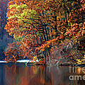 A Painting Barney's Autumn Pond by Mike Nellums