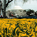 A Painting Jefferson Memorial Dali-style by Mike Nellums