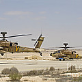 A Pair Of Ah-64d Saraf Attack by Ofer Zidon