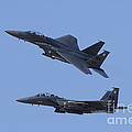 A Pair Of F-15c Eagle Aircraft Perform by Remo Guidi