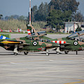 A Pair Of Hellenic Air Force T-2 by Timm Ziegenthaler