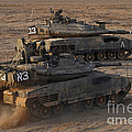 A Pair Of Israel Defense Force Merkava by Ofer Zidon