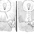 A Panel Depicts A Sleeping Man Dreaming by Tom Toro
