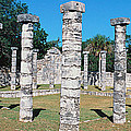 A Panoramic View Of Columns Surround by Panoramic Images