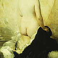 A Partially Draped Nude by Charles Chaplin