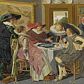 A Party At Table by Dirck Hals