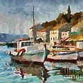 A Peaceful Harbour  by Dragica  Micki Fortuna