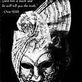 A Picture Of A Venitian Mask Accompanied By An Oscar Wilde Quote by Nila Newsom