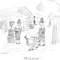 A Pilgrim Walks A Turkey On A Leash by Michael Maslin