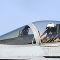 A Pilot Salutes Prior To Take Off In An by Stocktrek Images