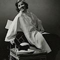 A Portrait Of Katharine Hepburn Wearing A Clare