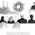 A Priest Makes A Eulogy by Julia Suits