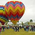 Albany Oregon Art And Air Show Hot Air Balloon Lift Off by Nick  Boren