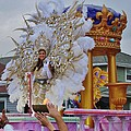 A Queen Of Carnival During Mardi Gras 2013 by Margaret Bobb