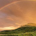 A Rainbow Appeared Over Mt. Washington by John Orcutt