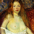 A Red-haired Model by William James Glackens