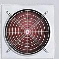 A Red Industrial Ventilated Fan On Grey Wall by Ammar Mas-oo-di