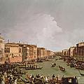A Regatta On The Grand Canal by Antonio Canaletto