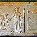 A Relief In Bergama Museum-turkey by Ruth Hager