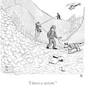 A Rescue Team Locates A Man Buried by Paul Noth