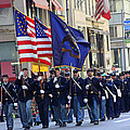 A Revolutionary Battalion Marching In The 2009 New York St. Patrick Day Parade by James Connor