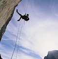 A Rock Climber On Washington Column by Gordon Wiltsie