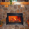 A Room With A Fireplace by Ausra Huntington nee Paulauskaite