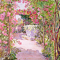 A Rose Arbor And Old Well, Venice by Ellen Fradgley