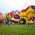 A Row Of Hot Air Balloons Left Side by Thomas Woolworth