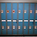A Row Of Lockers In A School Hallway by Christopher Kimmel