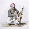 A Sarinda, Or Hindostan Type Violin by Franz Balthazar Solvyns