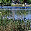 A Scenic View Of Round Pond  At The United States Military Academy by James Connor