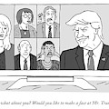 A Screen Split Between Trump And Five Pundits by Kim Warp