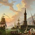 A Seaport by Claude-Joseph Vernet