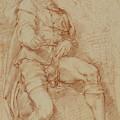 A Seated Man Bernardino Poccetti Barbatelli by Litz Collection