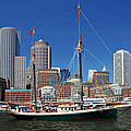 A Ship In Boston Harbor by Mitchell Grosky