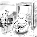 A Snowman Goes Through Airport Security by Christopher Weyant