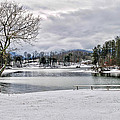 A Snowy Day On Lake Chatuge by Kenny Francis