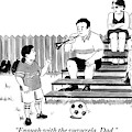 A Soccer-playing Little Girl Chastises Her Father by Emily Flake