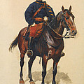 A Soldier Cavalerie by Jean Baptiste Detaille